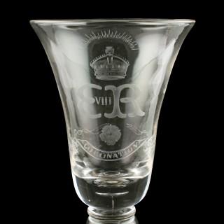 Edward VIII Coronation Coin Goblet