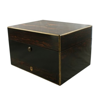 Victorian Coromandel wood Jewellery box