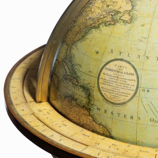A pair of George III 21 inch globes by J&W Cary, dated 1815 and 1800
