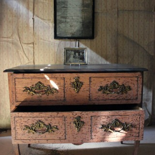 A French Louis XV Style Period Painted Pine Commode c.1890