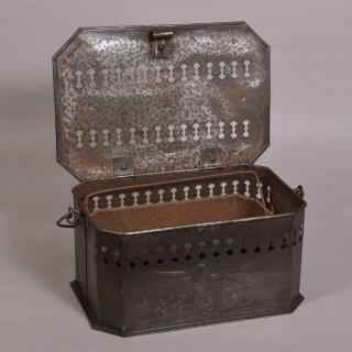 Antique Early 20th Century Tin Foot Warmer