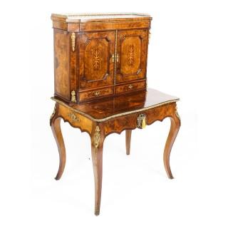 Antique Edwards & Roberts Marquetry Bonheur Du Jour Ladies Writing Desk 19th C