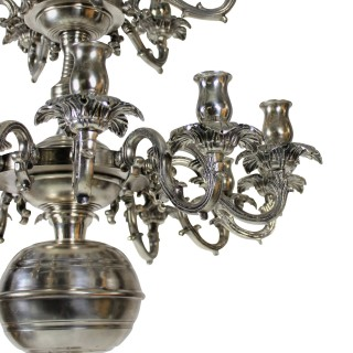 A FRENCH SILVER CHANDELIER