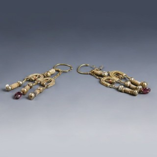 Ornate Roman Electrum Earrings