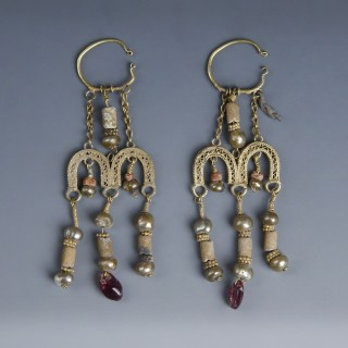 Ornate Roman Electrum Earrings