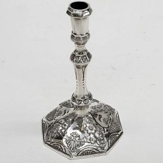 Antique Queen Anne Silver Taperstick