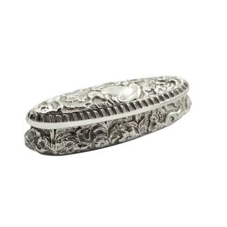 Antique Edwardian Sterling Silver Trinket Box 1901