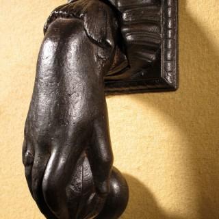 An Original Victorian Period Cast iron Door Knocker.
