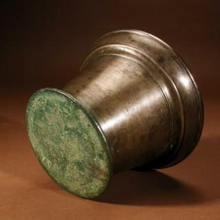 A Nice Plain Bronze Mortar, Continental 17th/18th Century