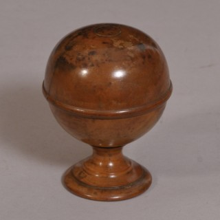 Antique Treen 19th Century Boxwood Pill Silverer