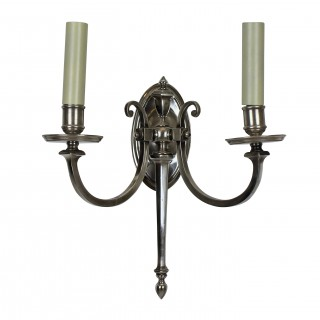 A PAIR OF FRENCH SILVER SCONCES