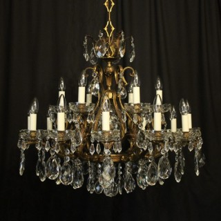 Italian Gilded 19 Light Antique Chandelier