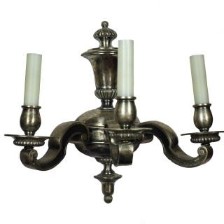 FOUR SILVER WALL SCONCES