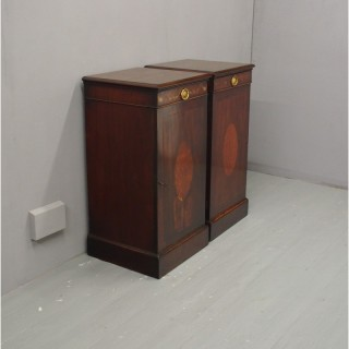 Pair of Georgian Mahogany Cabinets or Pedestals