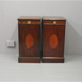 Pair of Georgian Mahogany Cabinets or Pedestals