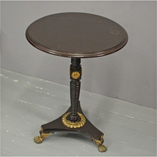 William IV Ebonised Occasional Table