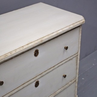 Swedish Grey Painted Chest of Drawers