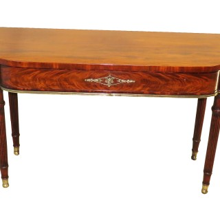 Regency 19th Century Mahogany Bowfront Console Table
