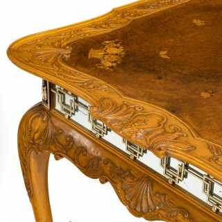 Fine Walnut and Burr Walnut Orientalist Centre Table, 1920
