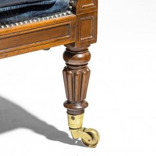 Regency Mahogany Library Chair by Gillows English, circa 1815