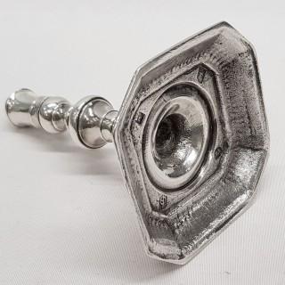 Queen Anne Silver Taperstick