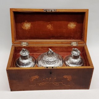 George Ii Silver Caddies in a Box