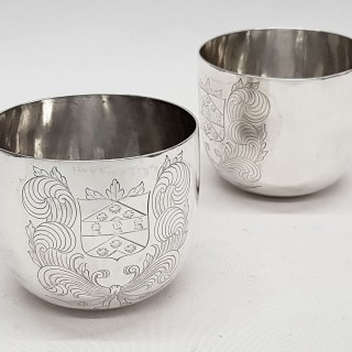 William III Silver Tumbler Cups