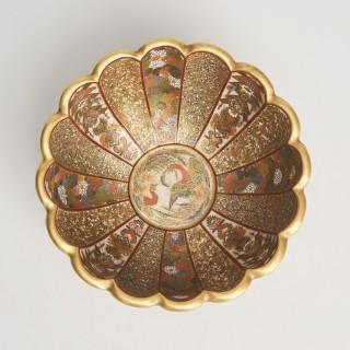 A Japanese Satsuma bowl (signed Kaizan.)