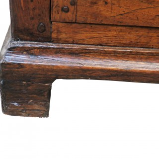English 18th Century Oak Cupboard Dresser Base