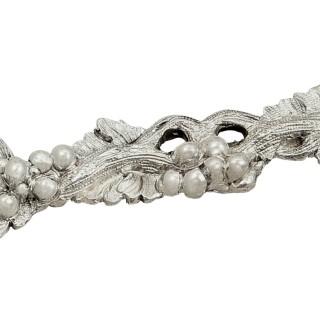 Antique Victorian Sterling Silver Grape Scissors / Shears in Case 1871