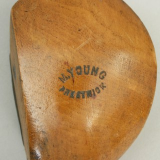 Hickory Shafted Driver, Prestwick