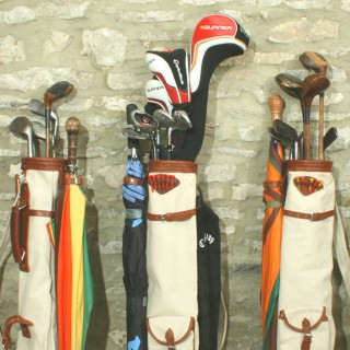 Schotten Canvas Golf Bag in a Vintage 1930's Style