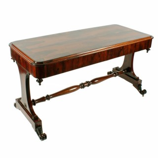 19th Century Rosewood Library Table