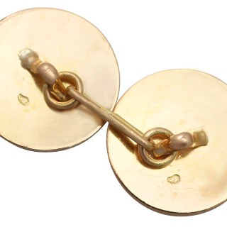 Cufflinks in 18 ct Yellow Gold - Antique French Circa 1930