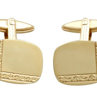 Cufflinks in 9 ct Yellow Gold - Vintage 1971