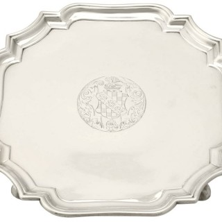 Sterling Silver Salver by Gabriel Sleath - Antique Circa 1745