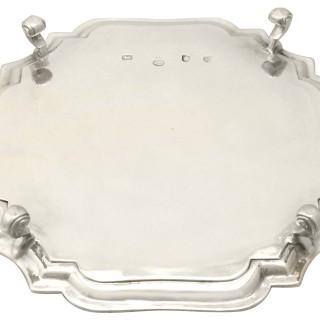 Sterling Silver Salver by Gabriel Sleath - Antique Circa 1745