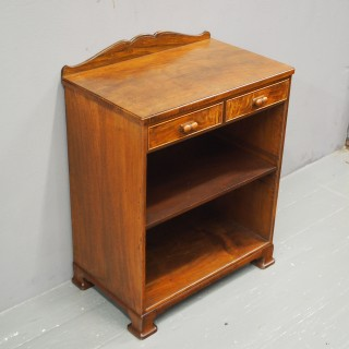 Walnut Bookcase or Bedside by Whytock and Reid