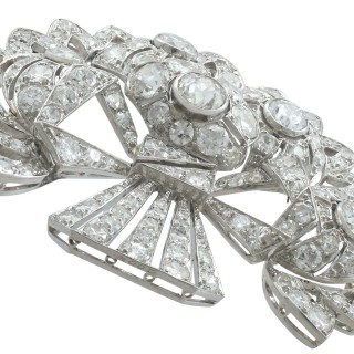 4.57 ct Diamond and Platinum Spray Brooch - Art Deco - Antique Circa 1930