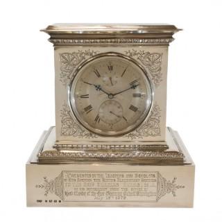 8-day mantel chronometer by Parkinson & Frodsham