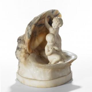 A charming Italian alabaster lamp 1920