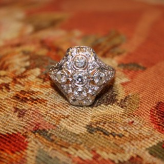 Platinum & 14ct White Gold Diamond Dress Ring, Circa 1925