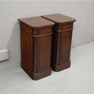 Pair of Victorian Mahogany Pedestals or Bedsides