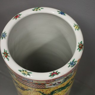 Chinese Painted Porcelain Stick Stand