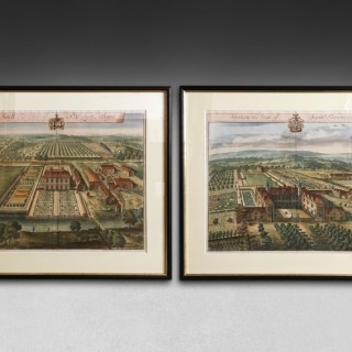 Pair of  18th century Kip Engravings of Syston and Swell