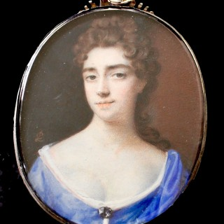 A portrait miniature of an unknown Lady