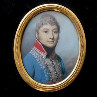 A Portrait Miniature of Captain John Cummings of the 8th King's Royal Irish Light Dragoons