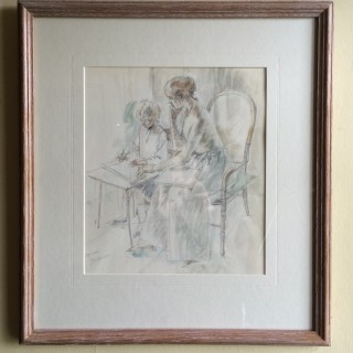 Jean Harper - Step Sister - Watercolour drawing