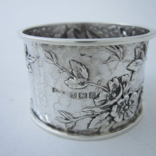 Art Nouveau Sterling silver napkin ring