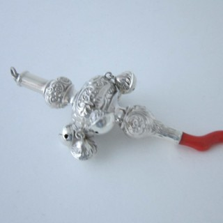 Antique George V Sterling silver baby's rattle